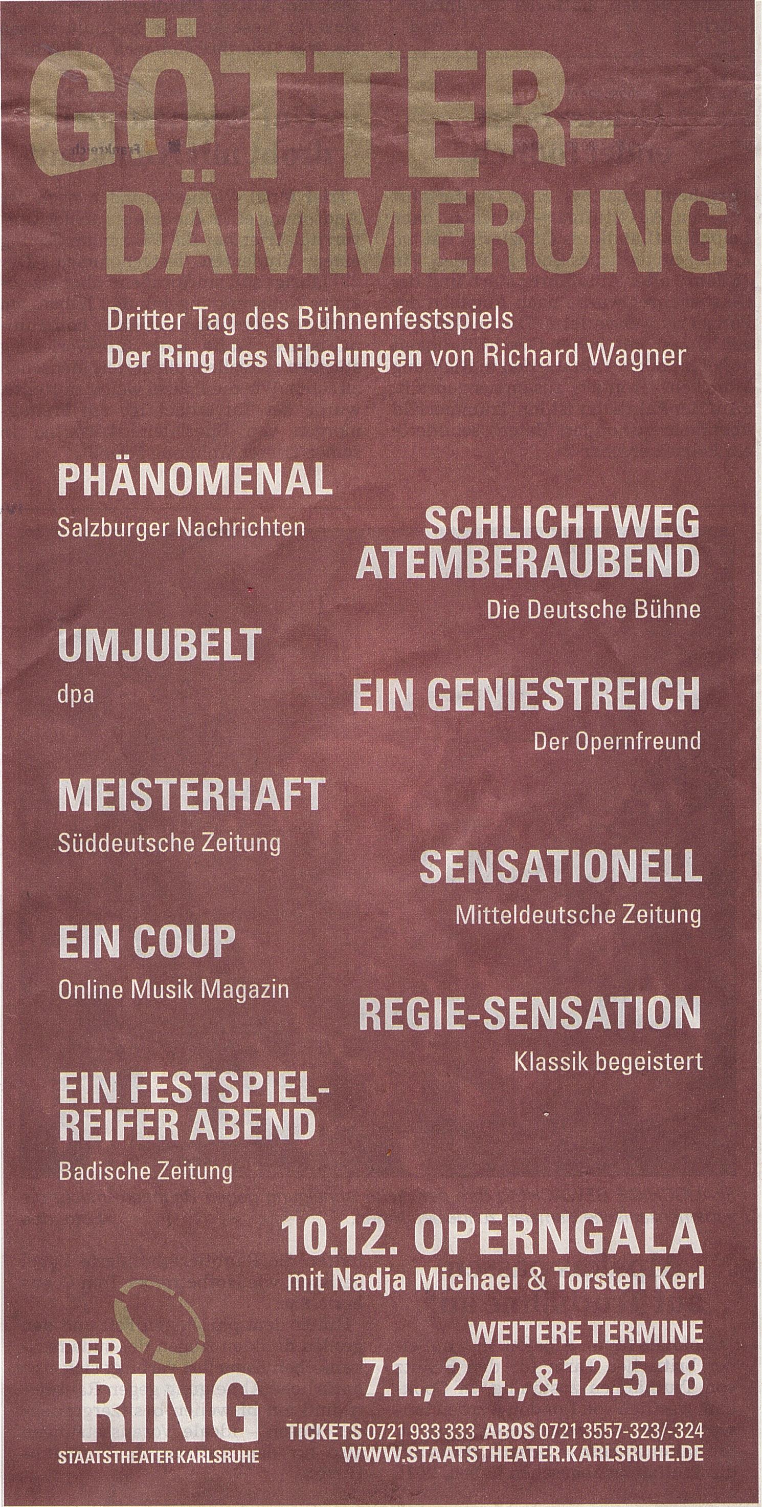 Konzert und Theater 2017 | Jürgen Köhler